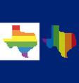 spectrum pixel dotted texas map vector image