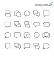 speech bubble line icons editable stroke vector image vector image