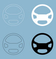 steering wheel the black and white color icon vector image