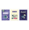 summer card templates set summer holidays banner vector image vector image
