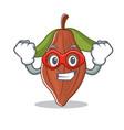 super hero cacao bean character cartoon vector image vector image