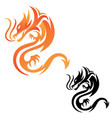 tribal dragon fire vector image