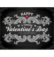 Valentine Banner on Chalkboard vector image vector image