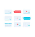 video playing ui elements kit vector image vector image