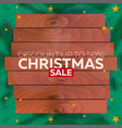 winter sale poster christmas sale vector image