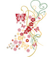 Butterfly abstract art design plant vector image