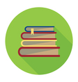 books badge vector image