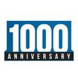 1000th anniversary icon birthday logo vector image vector image