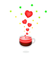 A Cup of Hot Coffee with Love vector image vector image