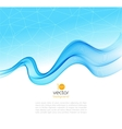 Abstract colorful transparent wave background vector image