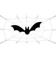 bat icon bat wings black web silhouette vector image vector image