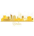 berlin germany city skyline golden silhouette vector image vector image