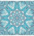 blue doodle geometric seamless pattern vector image