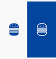 burger fast food fast food line and glyph solid vector image vector image