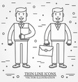 Businessman with briefcase and businessman with vector image