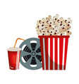 cinema entertainment flat icons vector image vector image