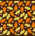 colorful autumn leaves seamless pattern seamless vector image vector image