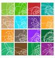 colorful element abstract background set set of vector image