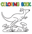 Coloring book of little kangaroo vector image vector image