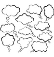 Comic cloud speech bubbles vector image