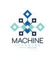 creative geometric logo machine learning modern vector image vector image
