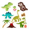 cute dinosaurs cartoon dino badragon in egg vector image
