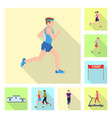 design sport and winner icon set of vector image vector image