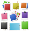 Different design of photo frames vector image vector image