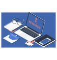 digital online rewards profit office working vector image vector image