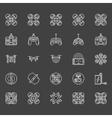 Drone logo set vector image vector image