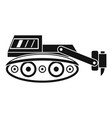 excavator with hydraulic hammer icon simple vector image