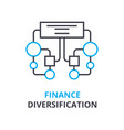 finance diversification concept outline icon vector image