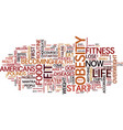fit for life a no nonsense look at fitness text vector image vector image