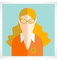 flat woman icons vector image vector image