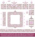 flower decorative ornaments building kit - lilac vector image vector image