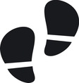 Footsteps resize vector image vector image