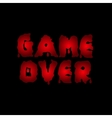 Game over text vector image