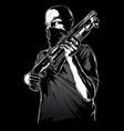 gang member with gun vector image
