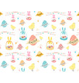happy easter pattern background vector image vector image