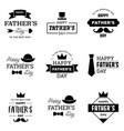 happy fathers day logo emblem badge sticker vector image