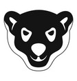 head of furious polar bear icon simple style vector image