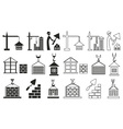 icons construction of houses on white vector image vector image