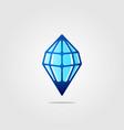 line art diamond ice stone drop logo icon vector image