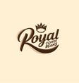 logo royal coffee bean decorative elements crown vector image vector image