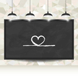 love background with hearts on blackboard vector image vector image