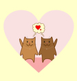 lovely cats 1 vector image vector image