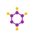 molecule logo element icon vector image vector image