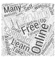 Online Computer Training Word Cloud Concept vector image vector image