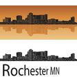 Rochester skyline in orange vector image vector image