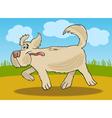 Running sheepdog dog cartoon vector image vector image